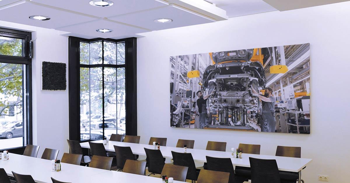 Akustikbilder optimieren Räume optisch und akustisch