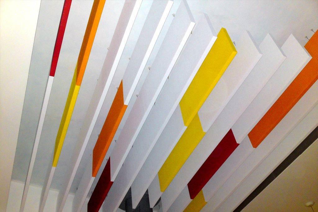 Akustikbaffel farblich gestaltet