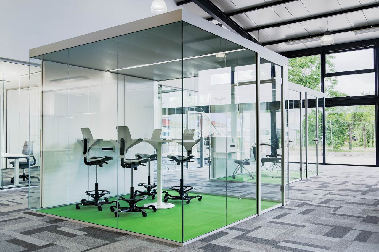 Büroraumplanung Raum-in-Raum System