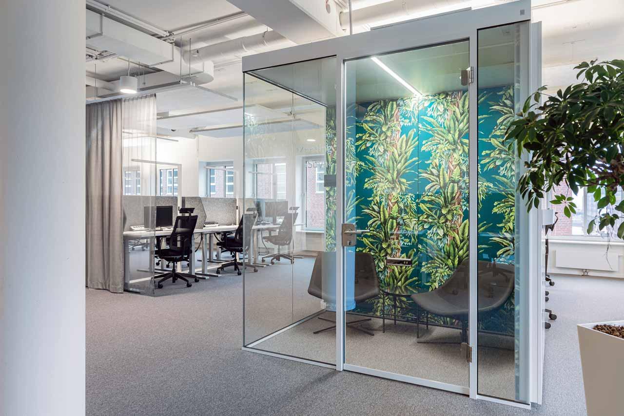 Raum-in-Raum, Rückzugsflächen am Arbeitsplatz