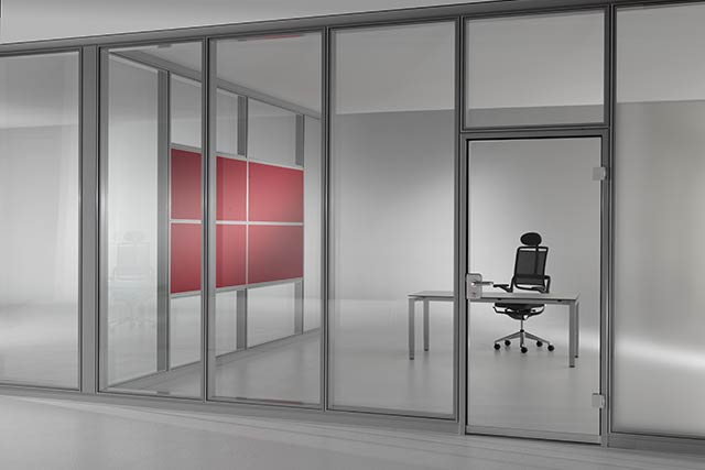 System partition wall with a lot of flexibility
