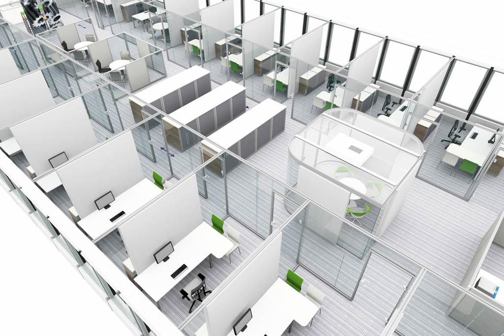 Moderne bürokonzepte grundriss  Kombibüro |