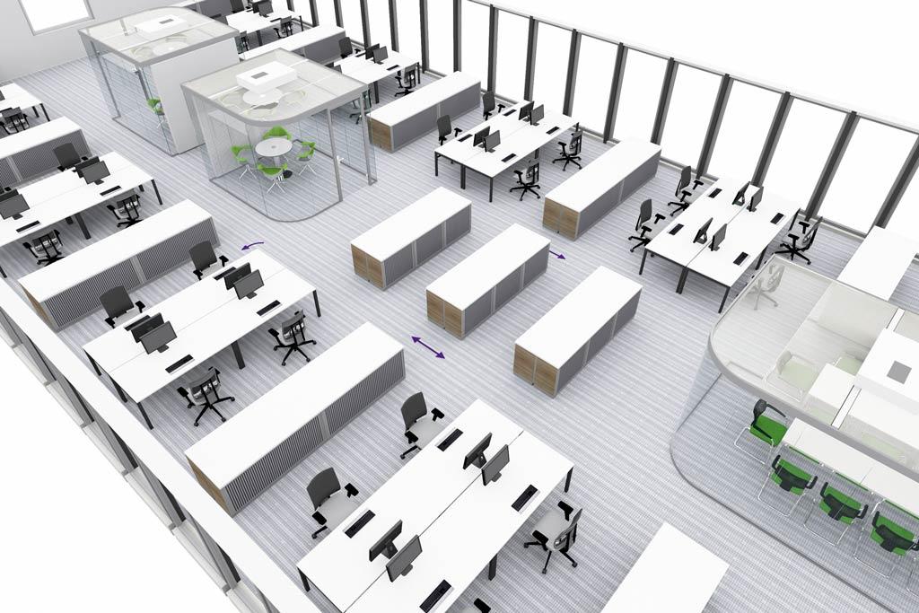 moderne burokonzepte grundriss, open space |, Design ideen