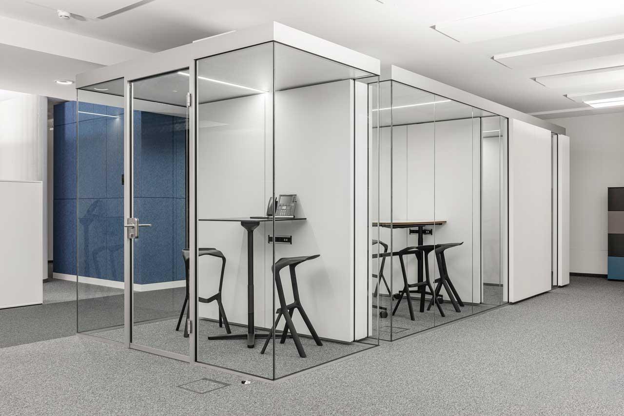Akustisch entkoppelte Raum in Raum Cubes