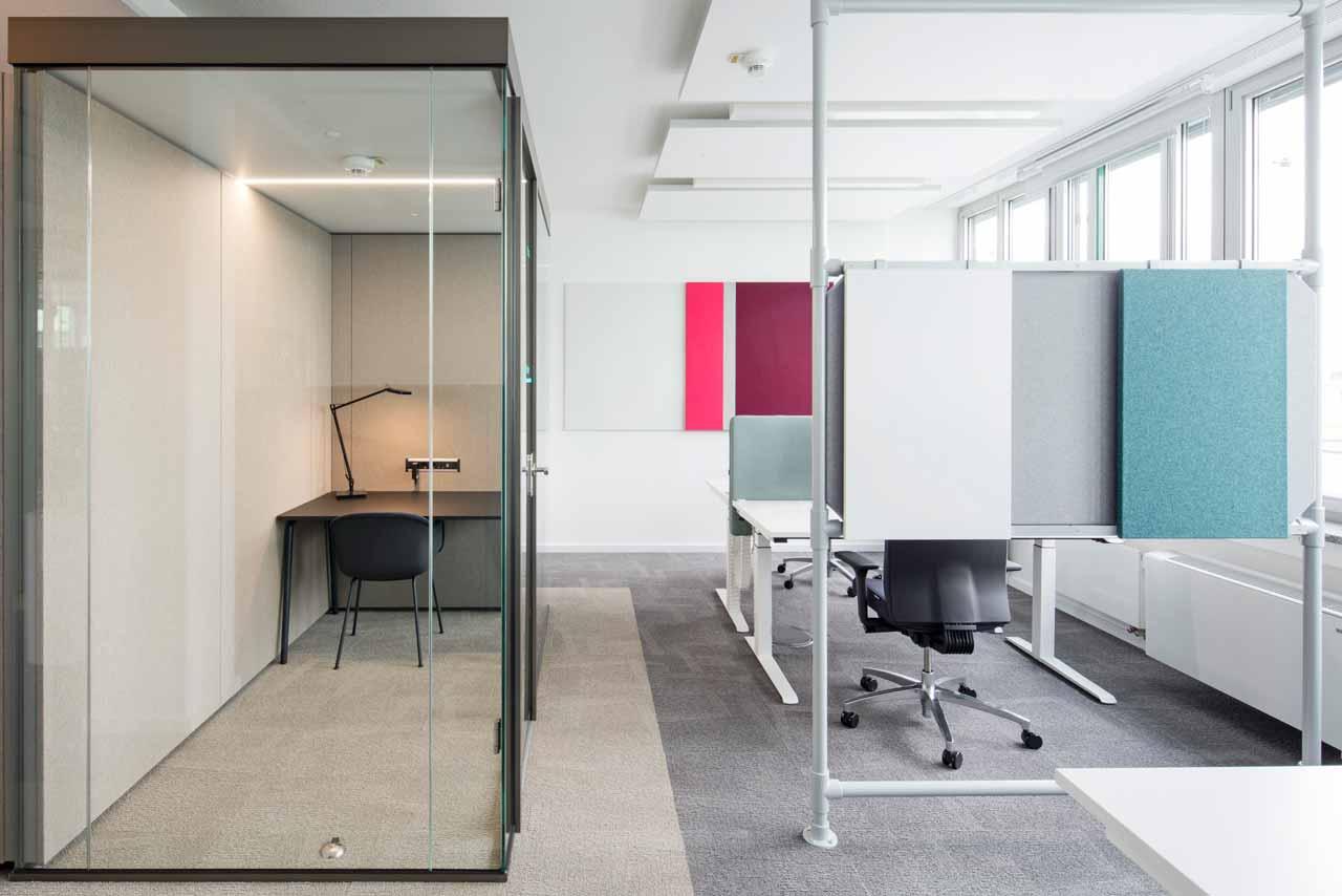 new work Bürofläche mit Think Tank