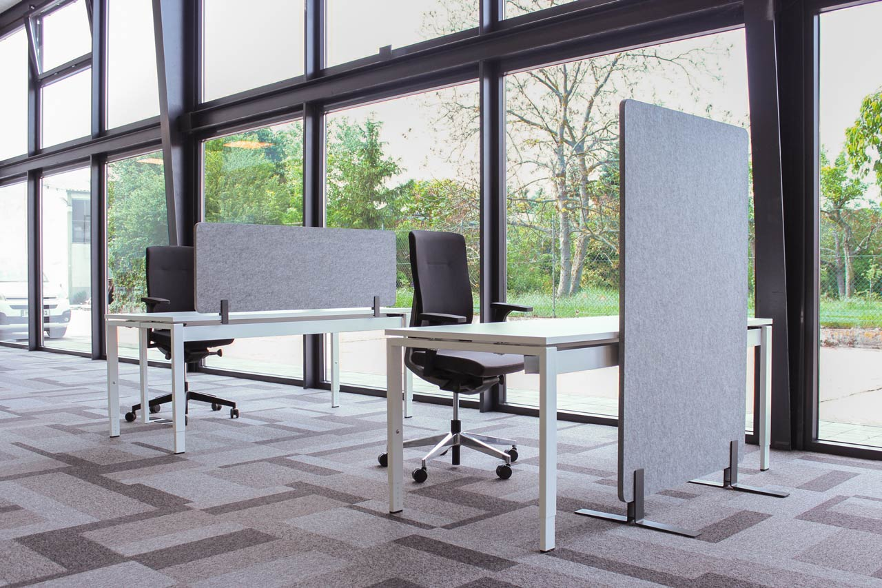 Partition wall and furniture attachment sound-absorbing