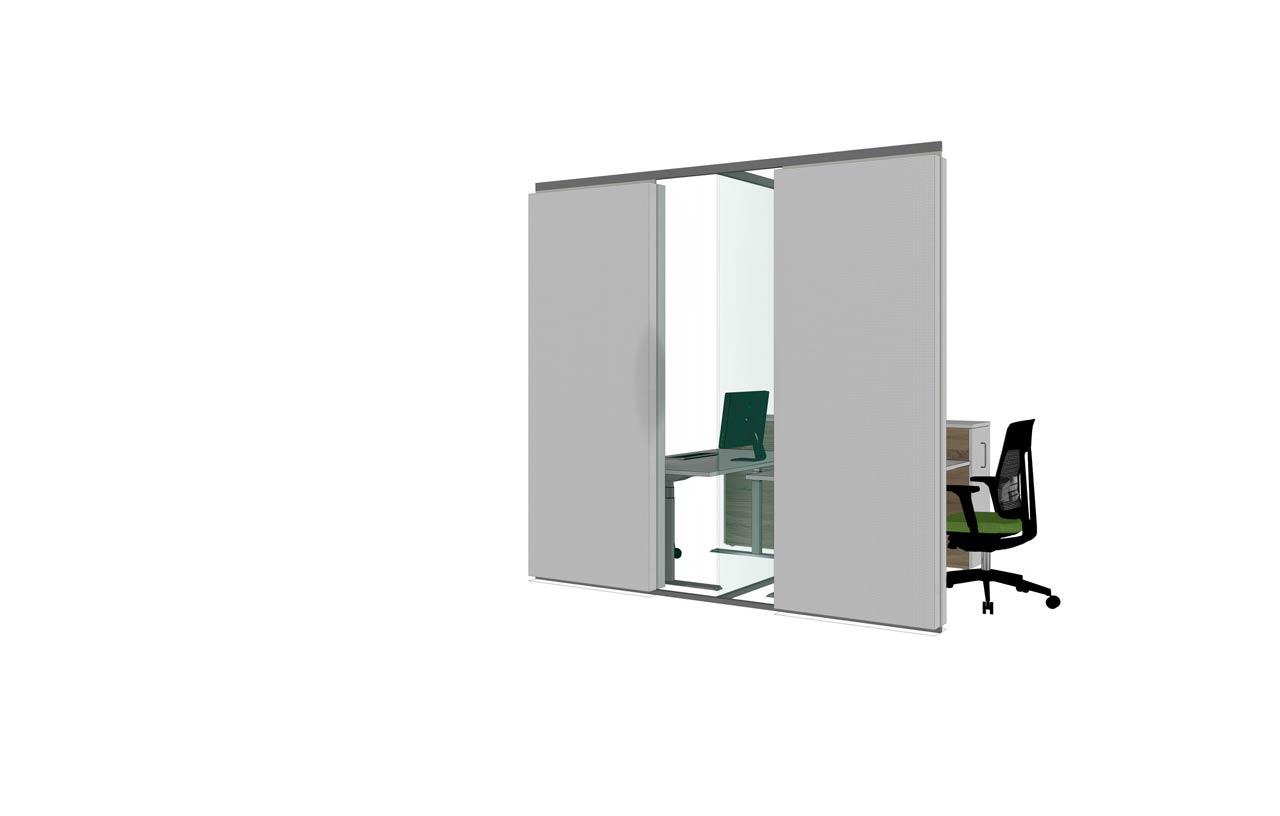 Glasakustik auf offener Bürofläche