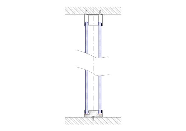 Glaswand doppelte verglaste Konstruktion