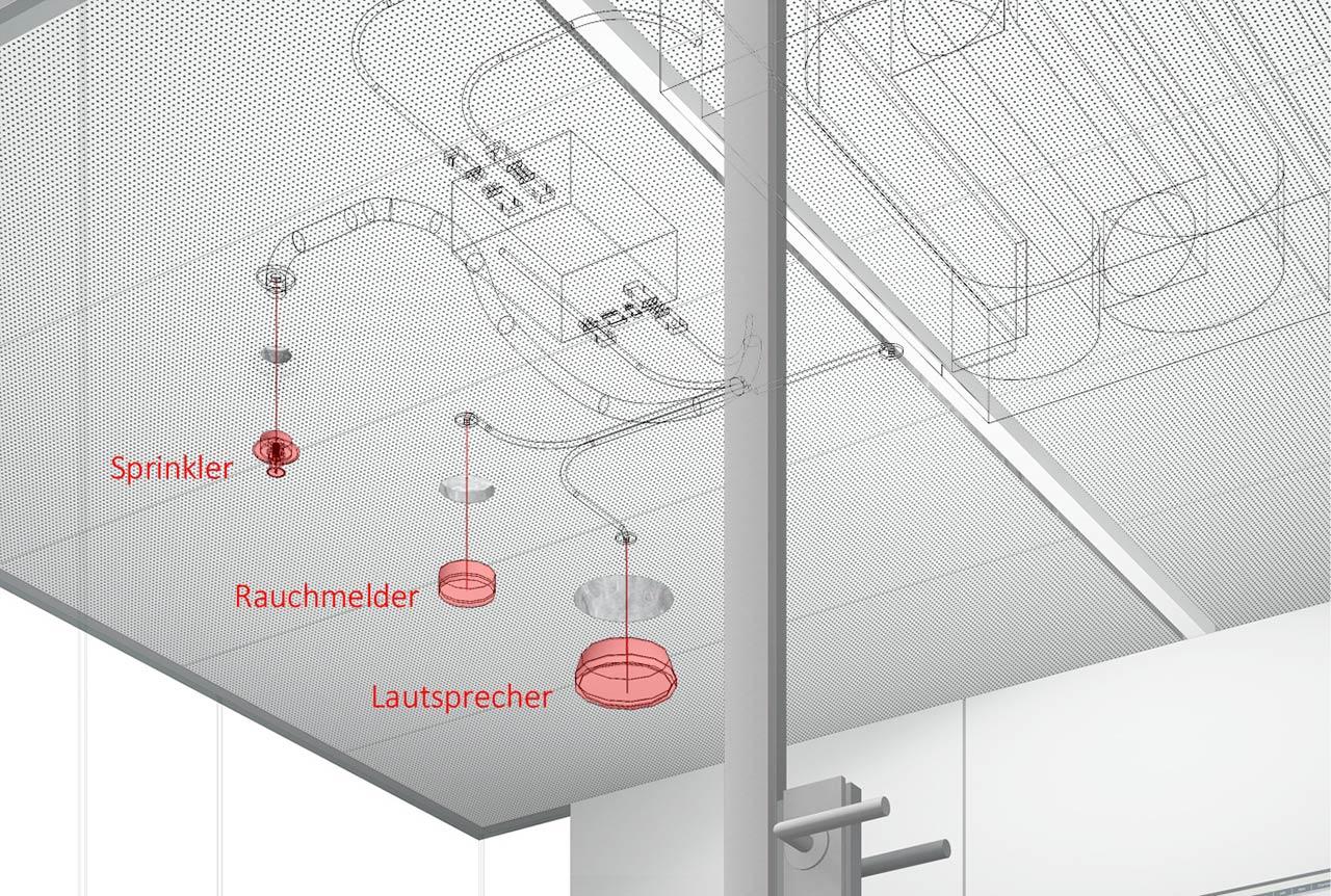 Raum in Raum Deckenelement mit Brandschutzbausteinen