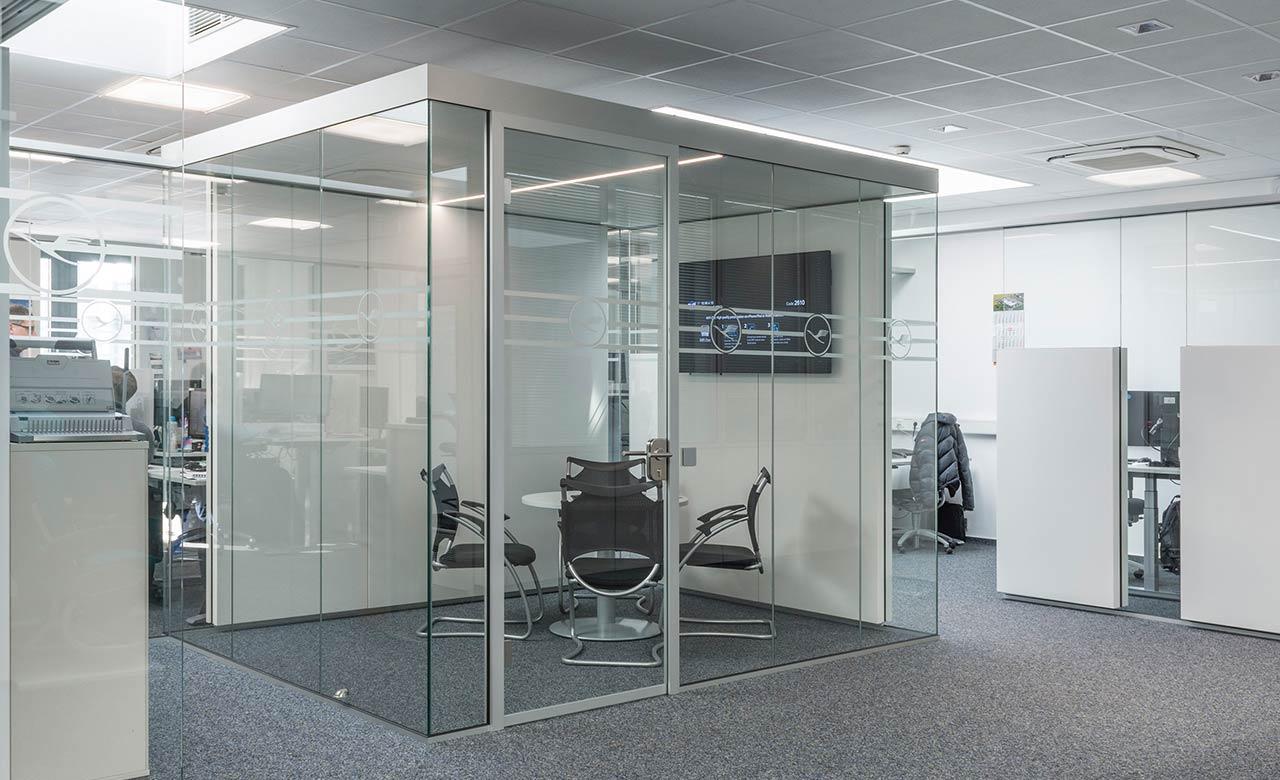 Raum in Raum System mit Anbindung an das Brandschutzkonzept