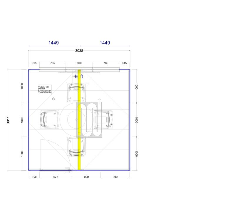 2D Plan Thinktank 9 m²