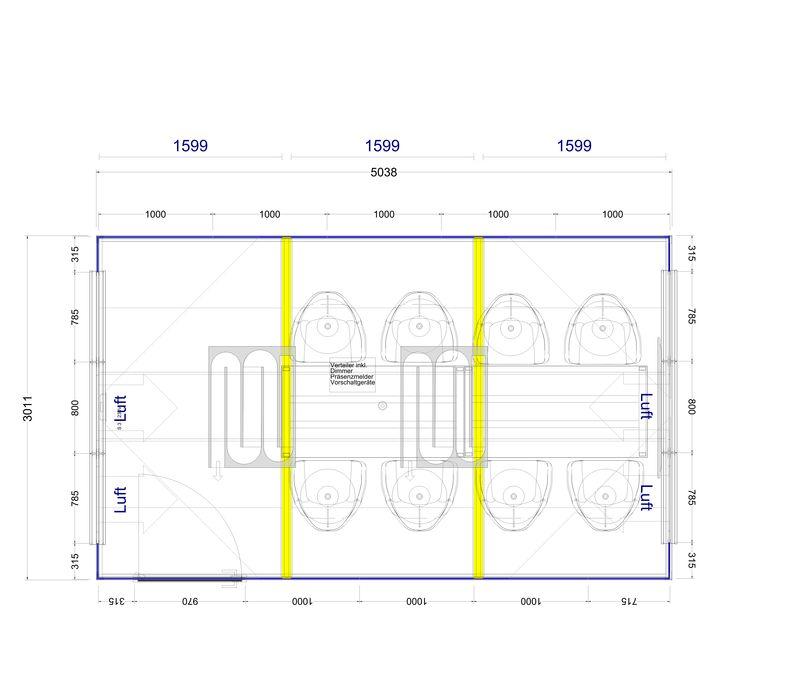 2D Plan für 15 m² Thinktank
