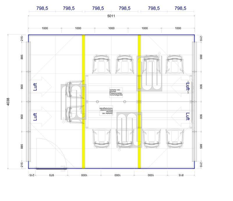 2D Plan Meeting im Thinktank für 8 Personen