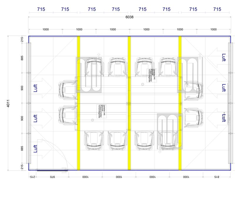 2D Plan für  12er Konferenz im Thinktank